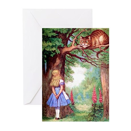 ALICE & THE CHESHIRE CAT Greeting Cards (Pk of 20)
