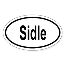 SIDLE Oval Decal