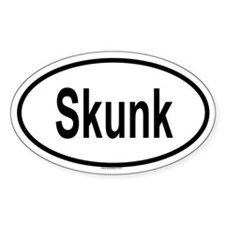 SKUNK Oval Decal