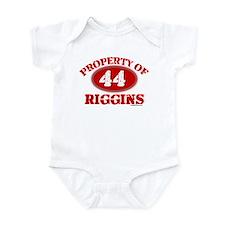 PROPERTY OF (44) RIGGINS Onesie