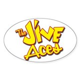 Jive Aces Oval Decal