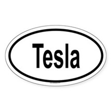 TESLA Oval Stickers