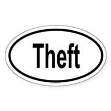 THEFT Oval Decal
