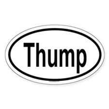 THUMP Oval Decal