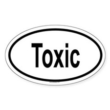 TOXIC Oval Decal