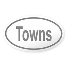 TOWNS Oval Decal