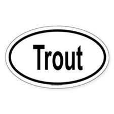 TROUT Oval Bumper Stickers