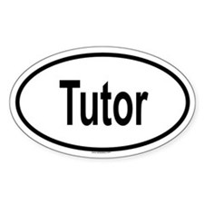TUTOR Oval Decal