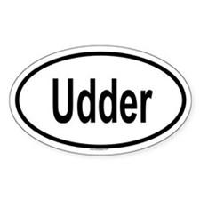 UDDER Oval Decal