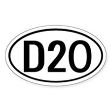 D20 D 20 D & D Oval Decal