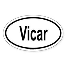 VICAR Oval Decal