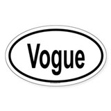 VOGUE Oval Decal