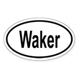 WAKER Oval Decal