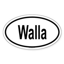WALLA Oval Decal