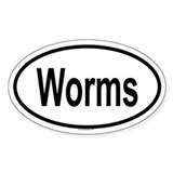 WORMS Oval Decal