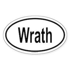 WRATH Oval Decal