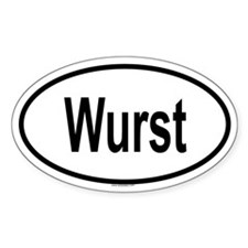 WURST Oval Decal