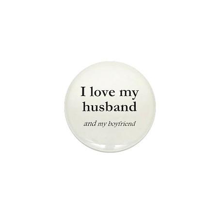 Husband/my boyfriend Mini Button