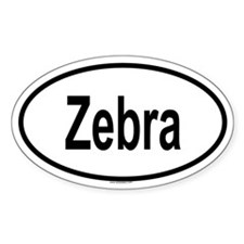 ZEBRA Oval Decal