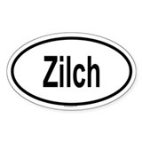 ZILCH Oval Decal