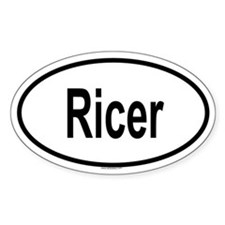 RICER Oval Decal