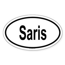 SARIS Oval Decal