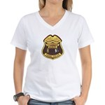 Stockbridge Munsee PD Women's V-Neck T-Shirt