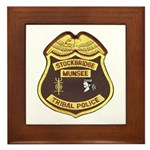 Stockbridge Munsee PD Framed Tile