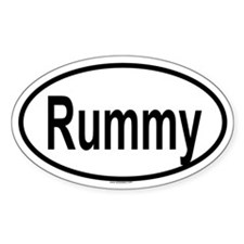RUMMY Oval Decal