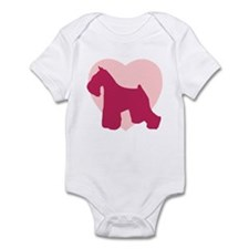 Miniature Schnauzer Valentine's Day Infant Bodysui