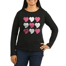 Pink and White Hearts T-Shirt