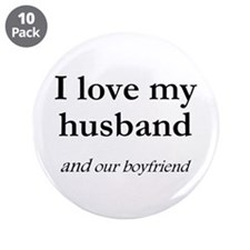 "Husband/our boyfriend 3.5"" Button (10 pack)"
