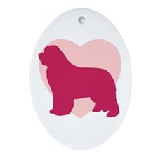 Newfoundland Valentine's Day Oval Ornament