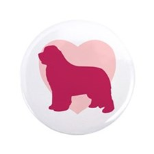 "Newfoundland Valentine's Day 3.5"" Button (100 pack"