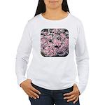 Phlox Candy Stripe Women's Long Sleeve T-Shirt