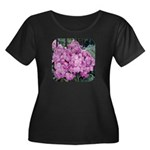 Phlox Lilac Women's Plus Size Scoop Neck Dark T-Sh