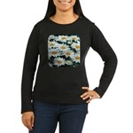 Shasta Daisies Women's Long Sleeve Dark T-Shirt