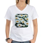 Shasta Daisies Women's V-Neck T-Shirt