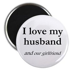 "Husband/our girlfriend 2.25"" Magnet (100 pack)"