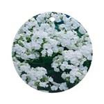 Phlox White Ornament (Round)