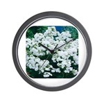 Phlox White Wall Clock