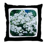 Phlox White Throw Pillow