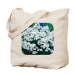 Phlox White Tote Bag
