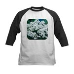 Phlox White Kids Baseball Jersey