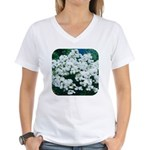 Phlox White Women's V-Neck T-Shirt