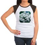 Phlox White Women's Cap Sleeve T-Shirt