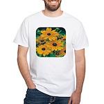 Rudbeckia - Black Eye Susan White T-Shirt