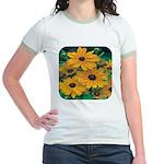 Rudbeckia - Black Eye Susan Jr. Ringer T-Shirt