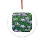 Scabiosa Blue Ornament (Round)