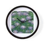 Scabiosa Blue Wall Clock